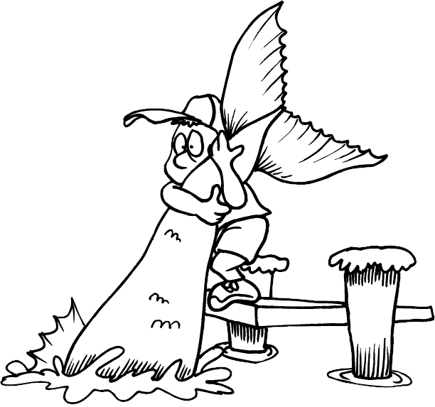catching viper fish coloring pages - photo#18